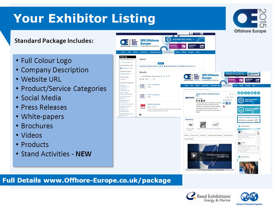 Your Exhibitor Listing