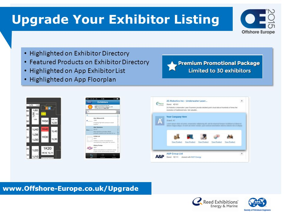 Upgrade Your Exhibitor Listing