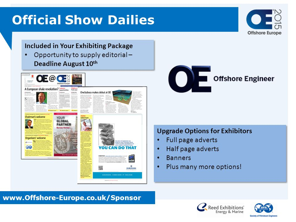 Official Show Dailies Included in Your Exhibiting Package