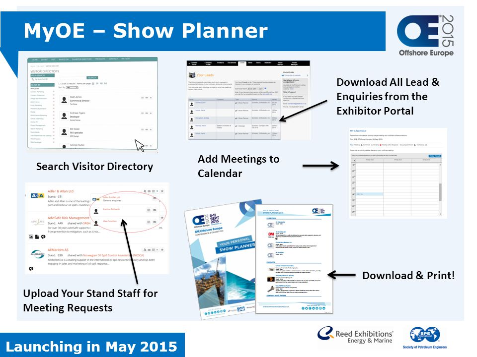 MyOE – Show Planner Launching in May 2015