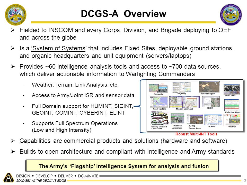 The Army's 'Flagship' Intelligence System for analysis and fusion