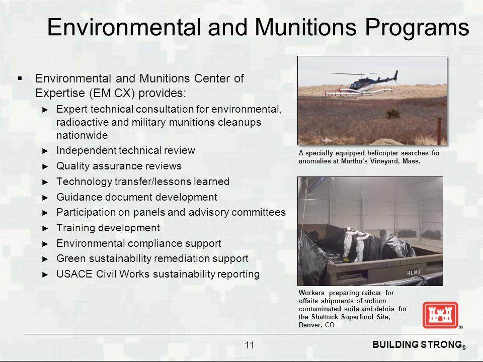 Environmental and Munitions Programs