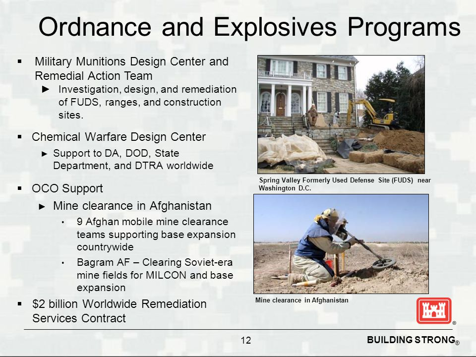 Ordnance and Explosives Programs