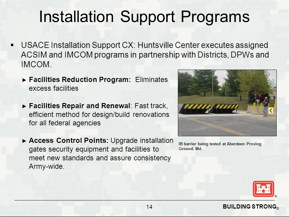 Installation Support Programs