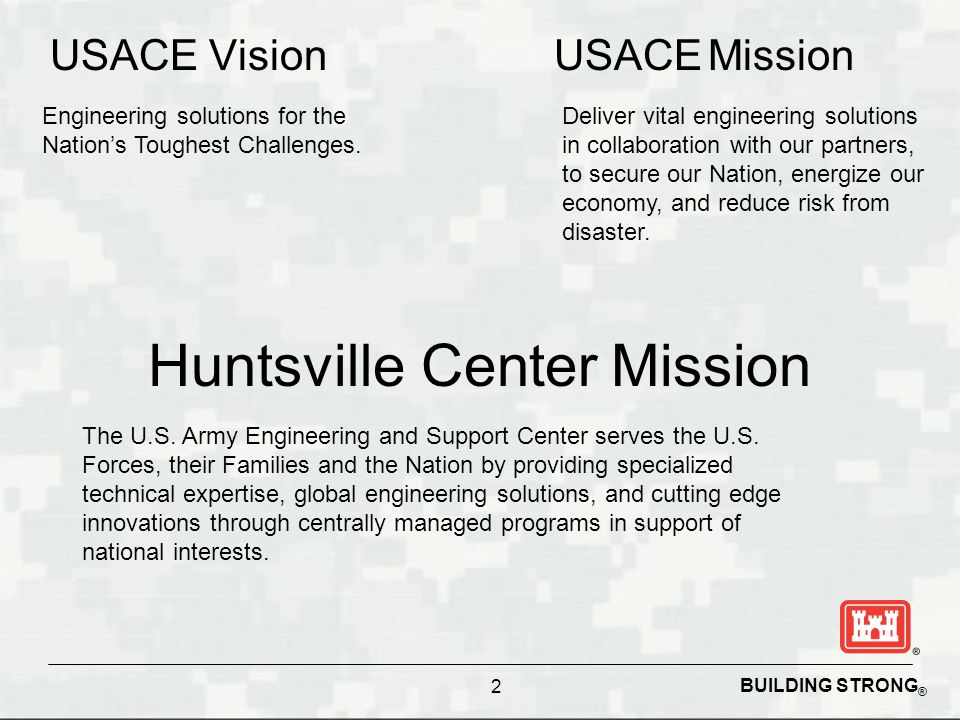 Huntsville Center Mission