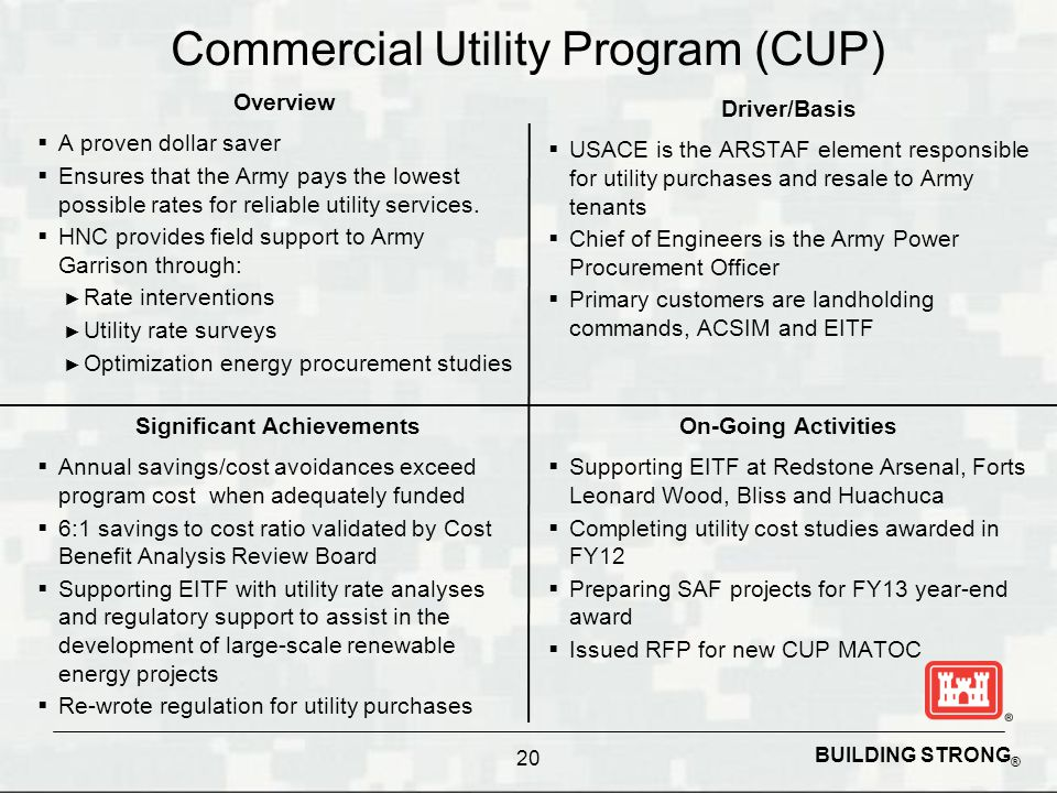 Commercial Utility Program (CUP)