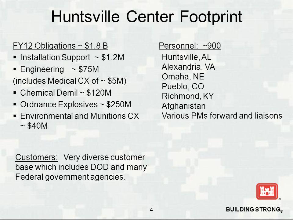 Huntsville Center Footprint