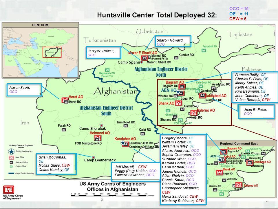 Huntsville Center Total Deployed 32: