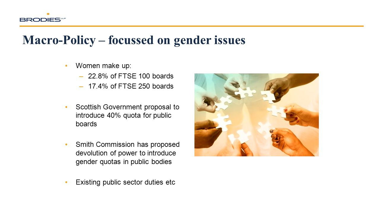 Macro-Policy – focussed on gender issues