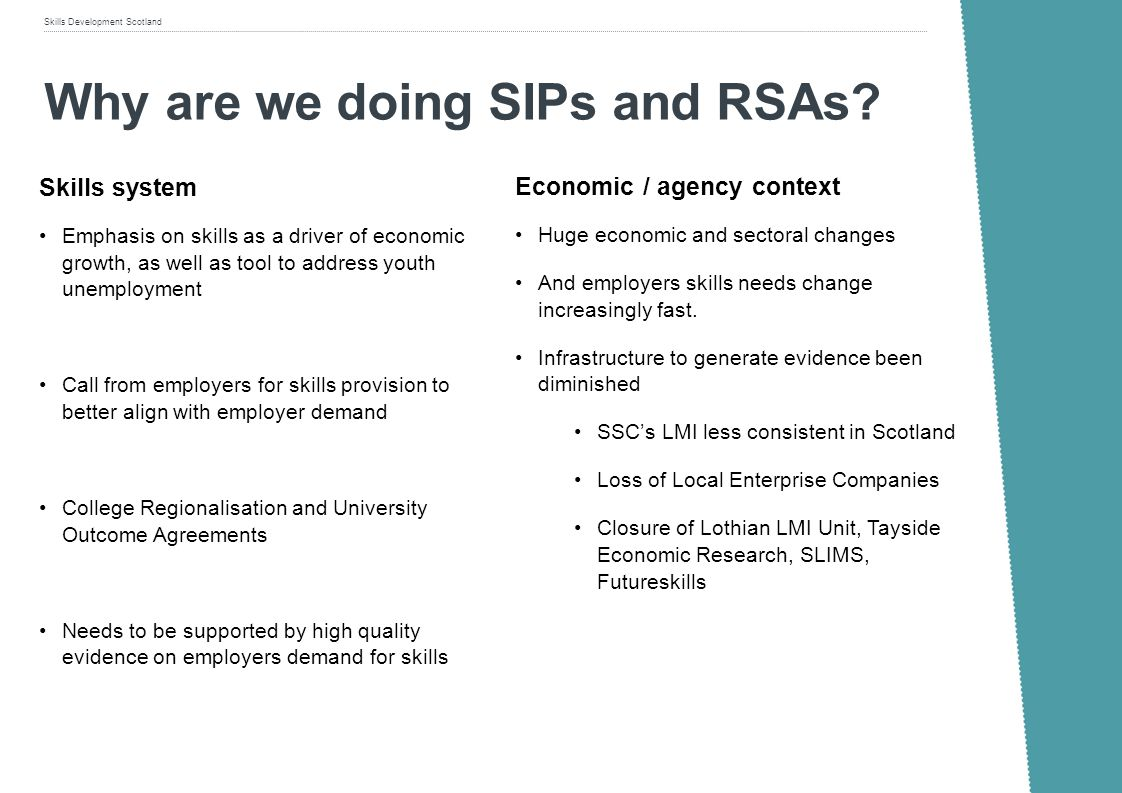 Why are we doing SIPs and RSAs