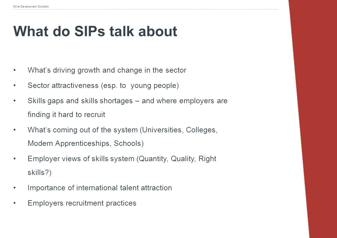 What do SIPs talk about What's driving growth and change in the sector