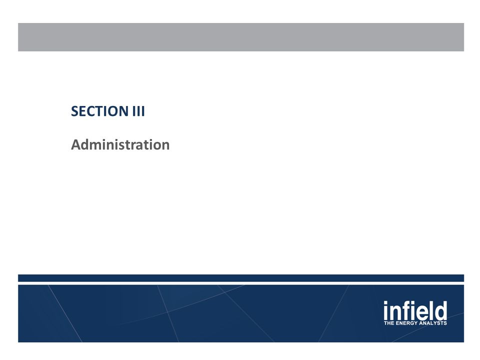 SECTION III Administration