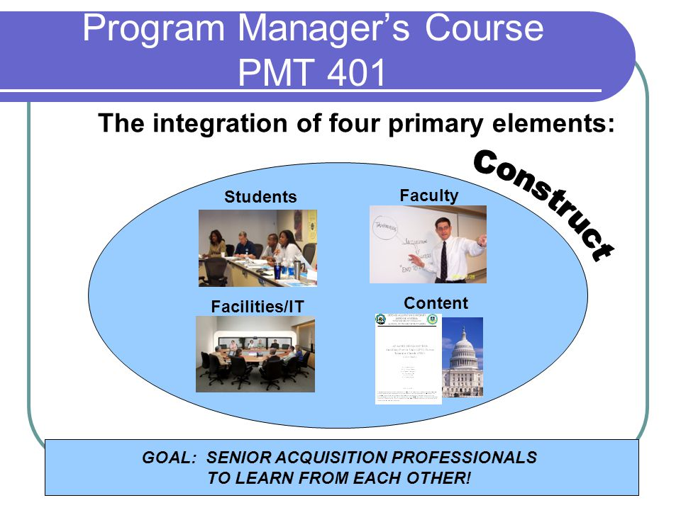 Program Manager's Course PMT 401