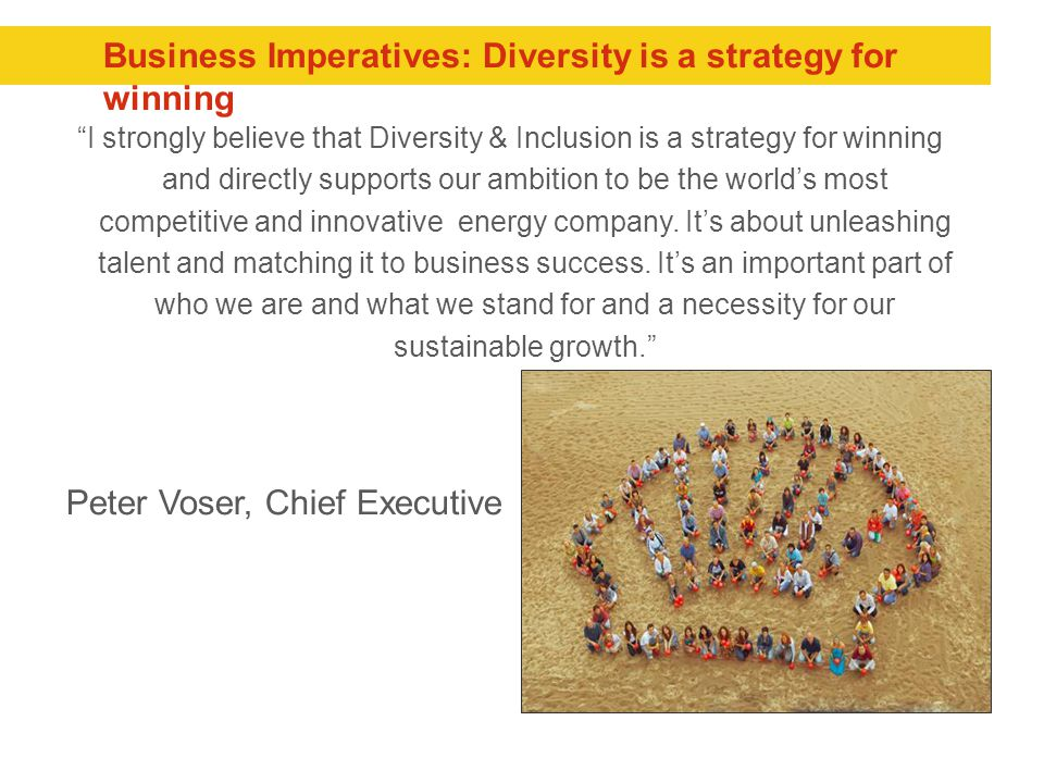 Business Imperatives: Diversity is a strategy for winning
