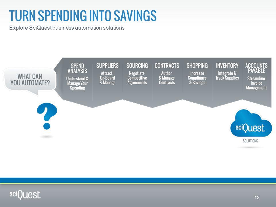 Turn spending into savings