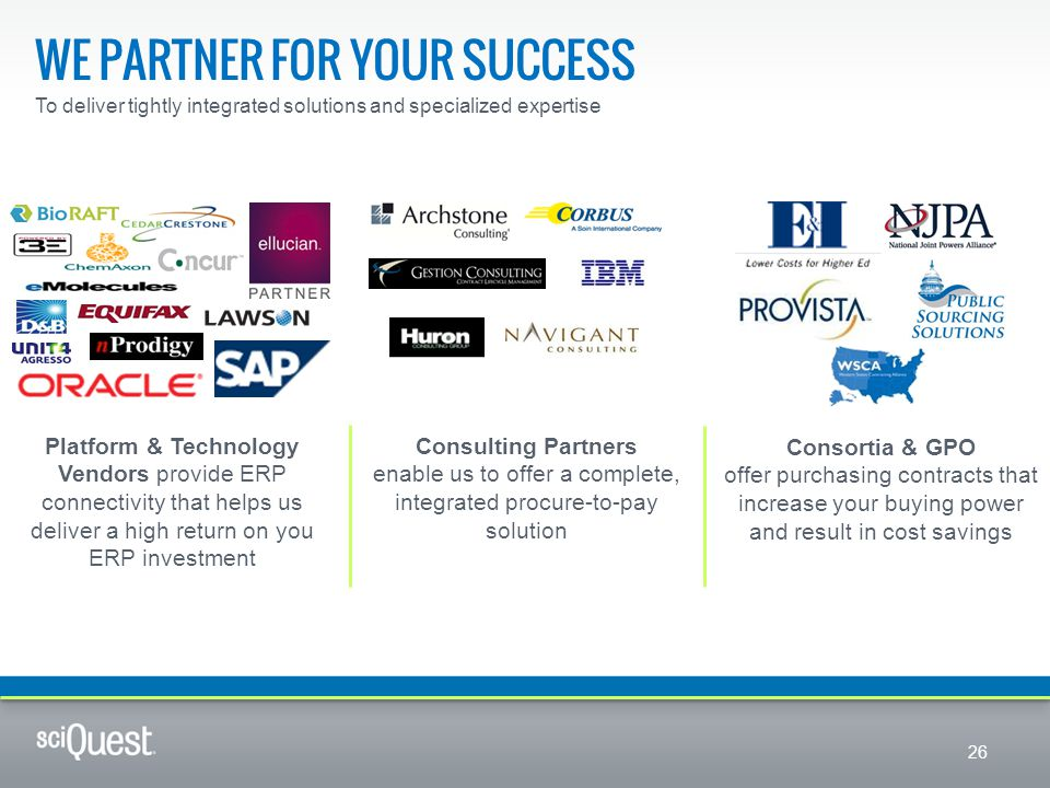 We partner for your success