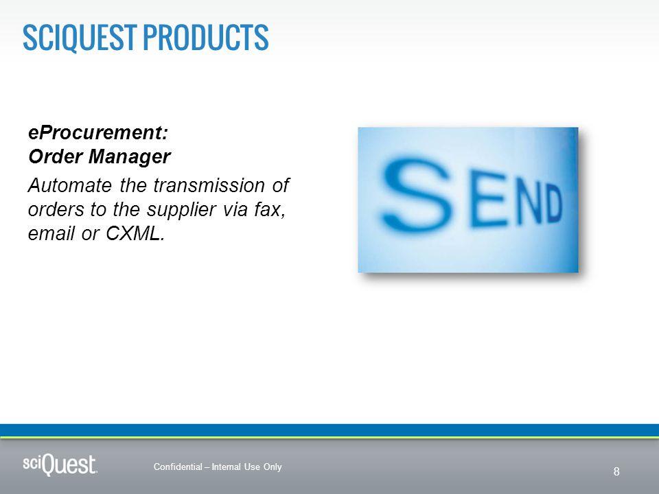 SciQuest Products eProcurement: Order Manager