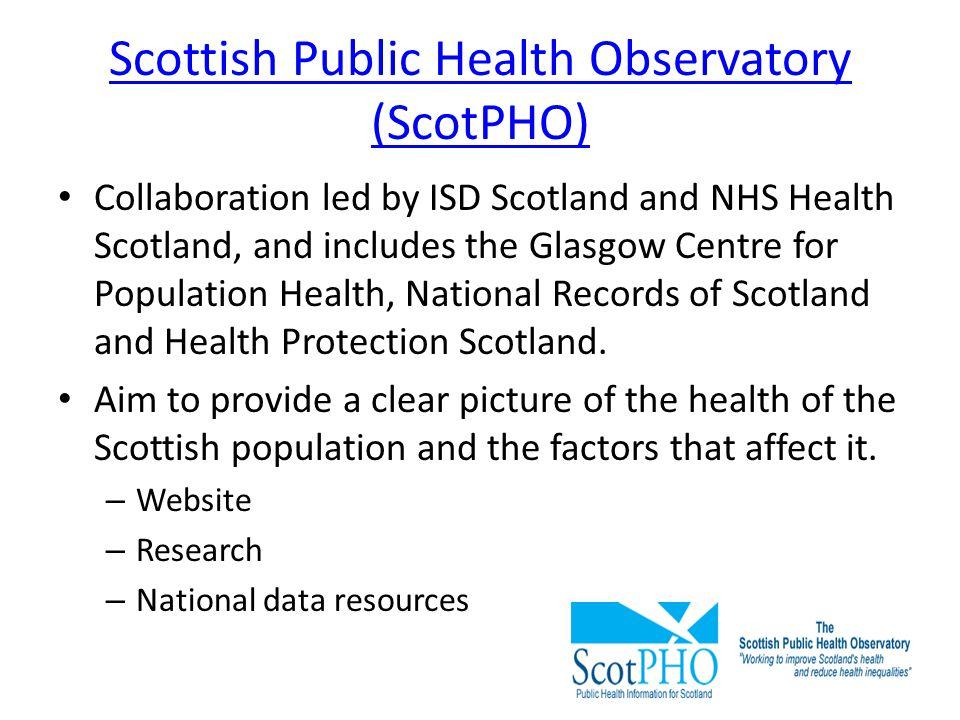 Scottish Public Health Observatory (ScotPHO)