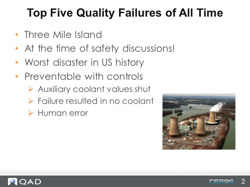 Top Five Quality Failures of All Time