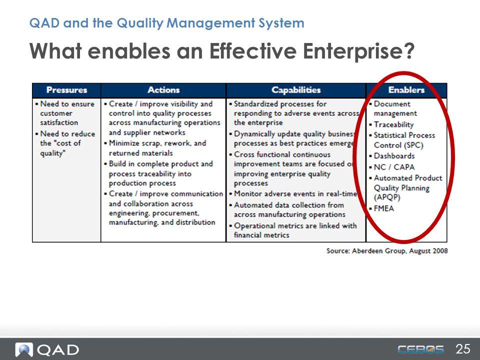 What enables an Effective Enterprise