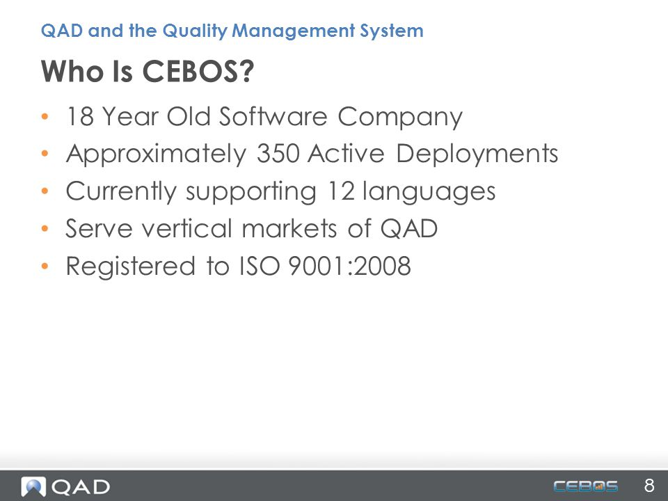 Who Is CEBOS 18 Year Old Software Company