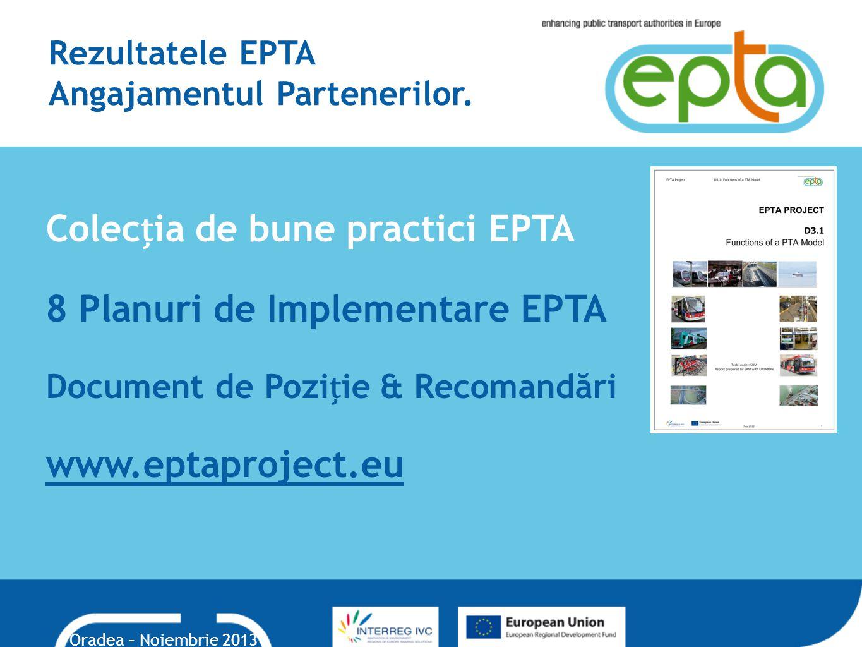 Rezultatele EPTA Angajamentul Partenerilor.