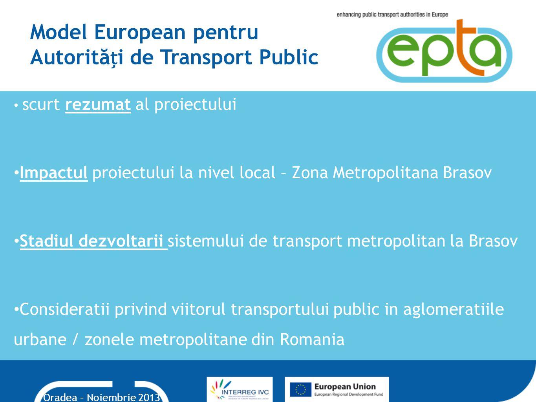 Model European pentru Autorități de Transport Public