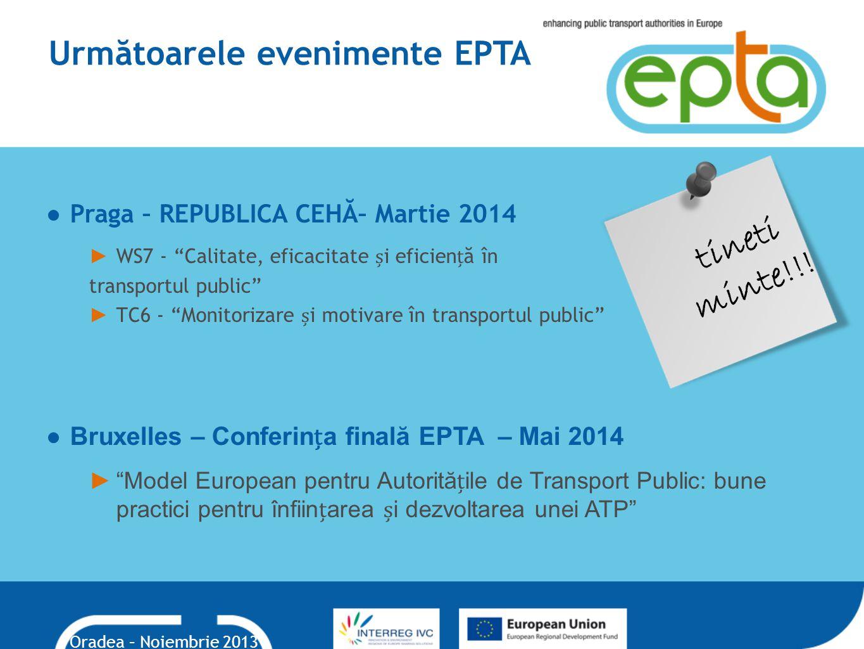 Următoarele evenimente EPTA