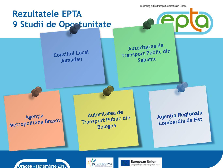 Rezultatele EPTA 9 Studii de Oportunitate
