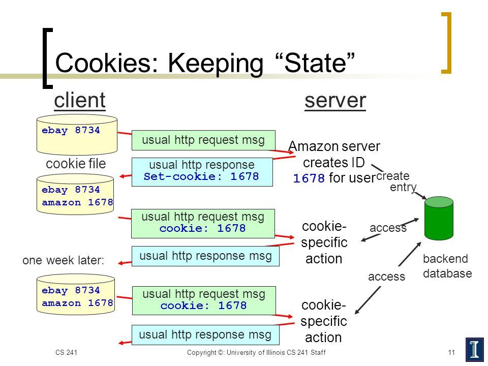 Cookies: Keeping State