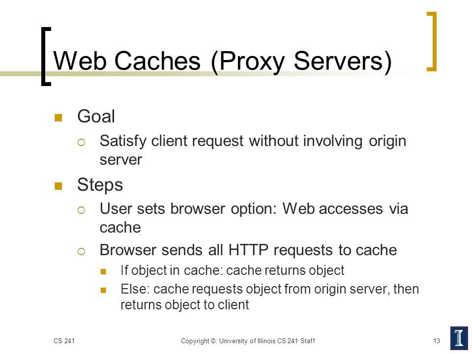 Web Caches (Proxy Servers)
