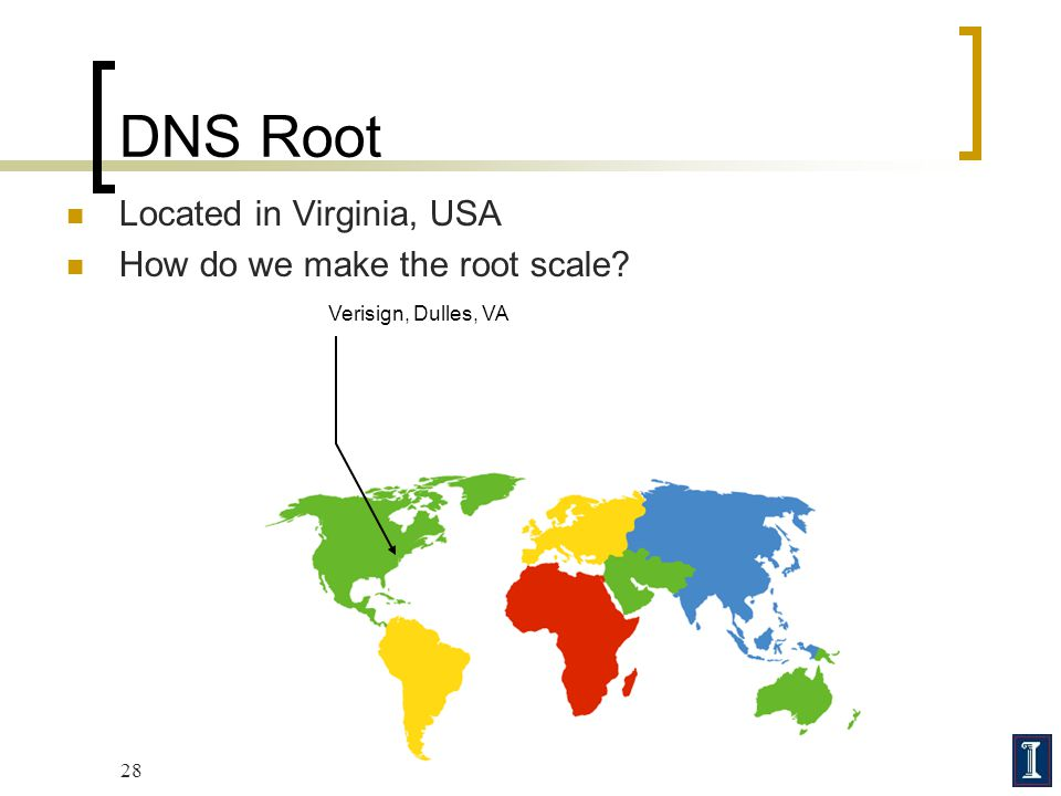 DNS Root Located in Virginia, USA How do we make the root scale