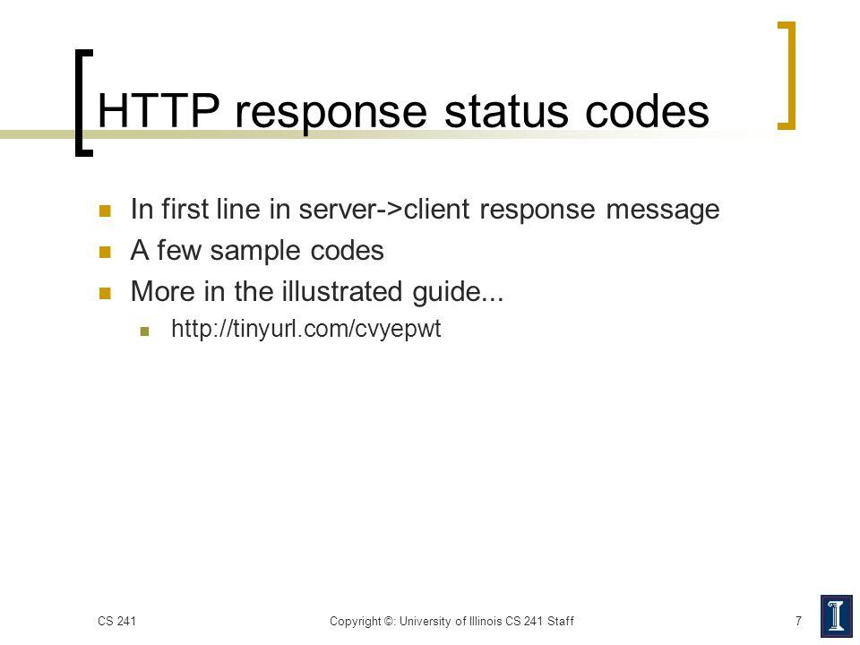 HTTP response status codes