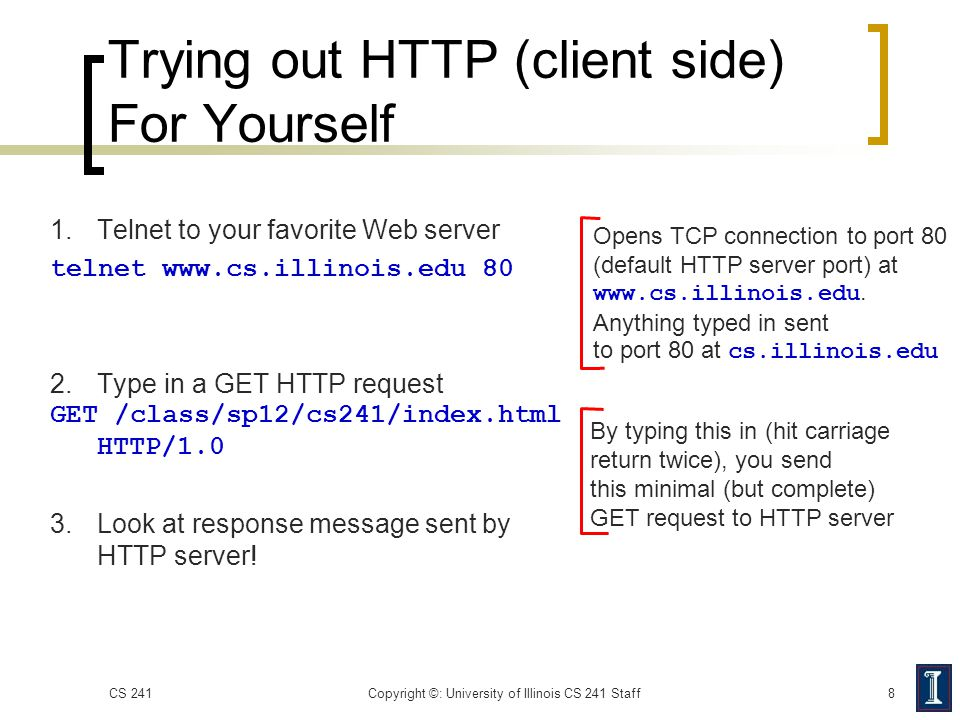 Trying out HTTP (client side) For Yourself