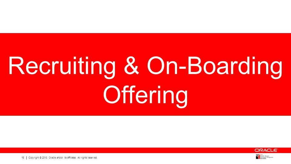 Recruiting & On-Boarding Offering