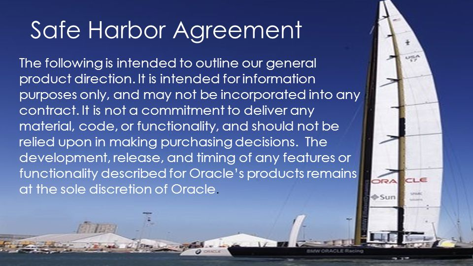 Safe Harbor Agreement