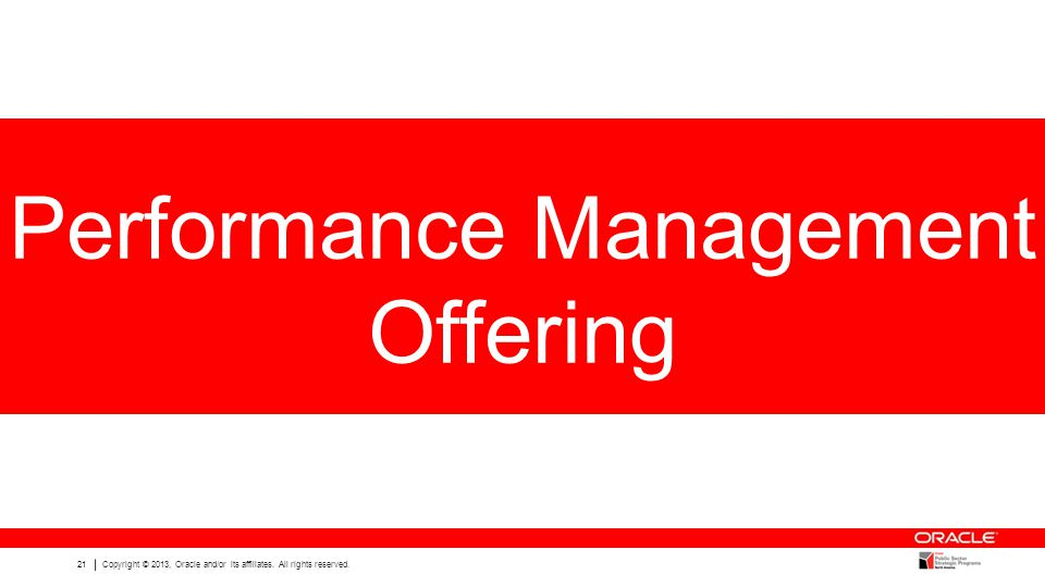 Performance Management Offering