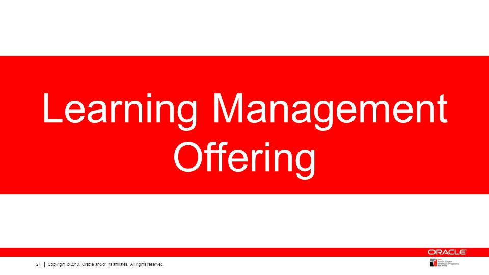 Learning Management Offering