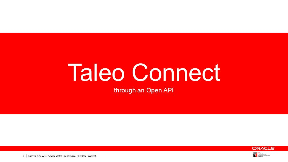 Taleo Connect through an Open API