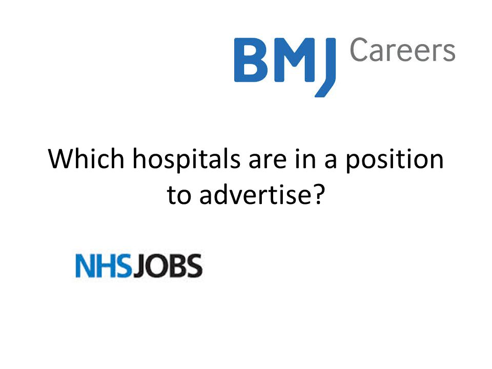 Which hospitals are in a position to advertise