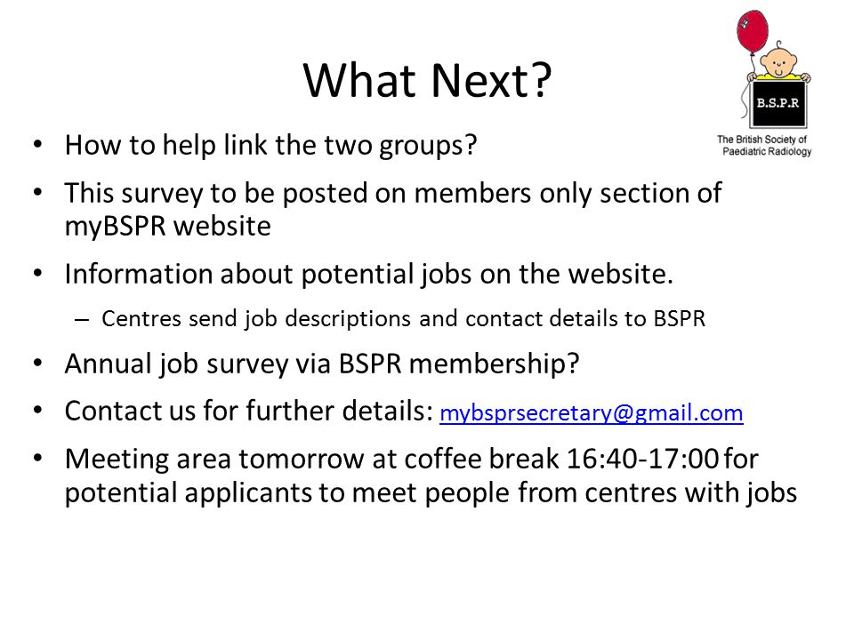 What Next How to help link the two groups
