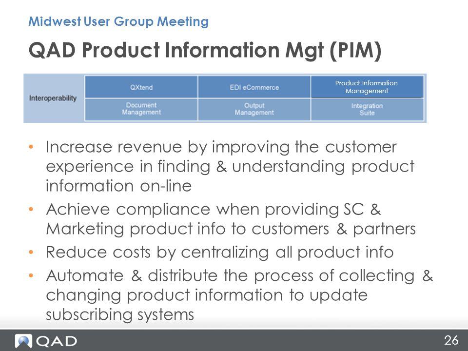 QAD Product Information Mgt (PIM)