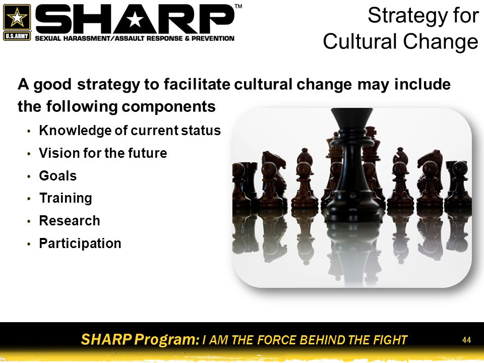 Strategy for Cultural Change