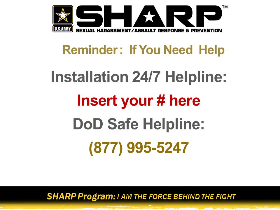 Reminder : If You Need Help