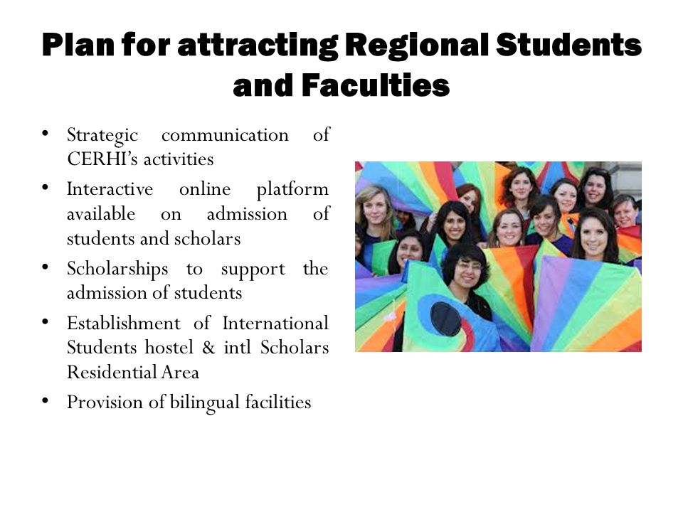 Plan for attracting Regional Students and Faculties