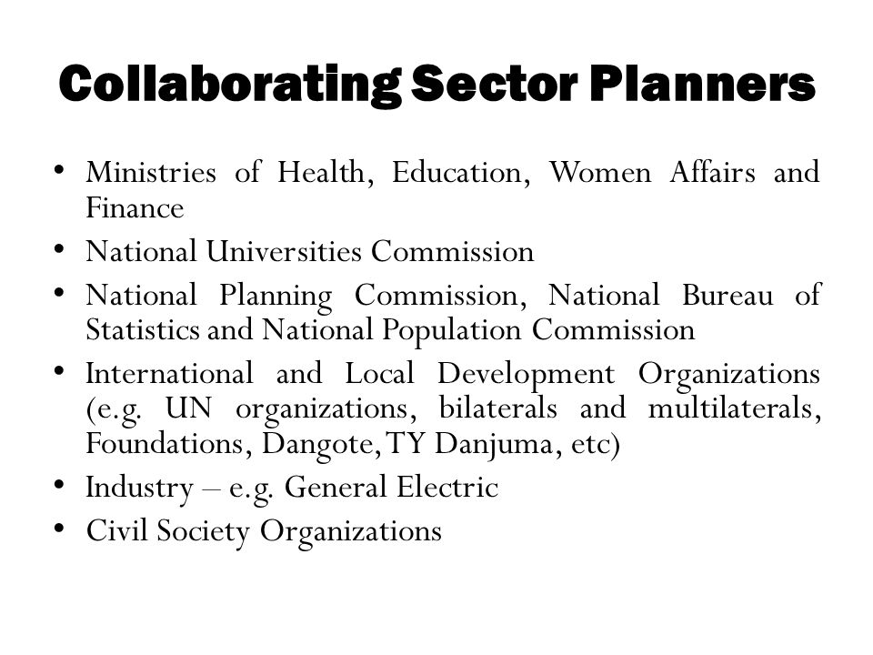 Collaborating Sector Planners