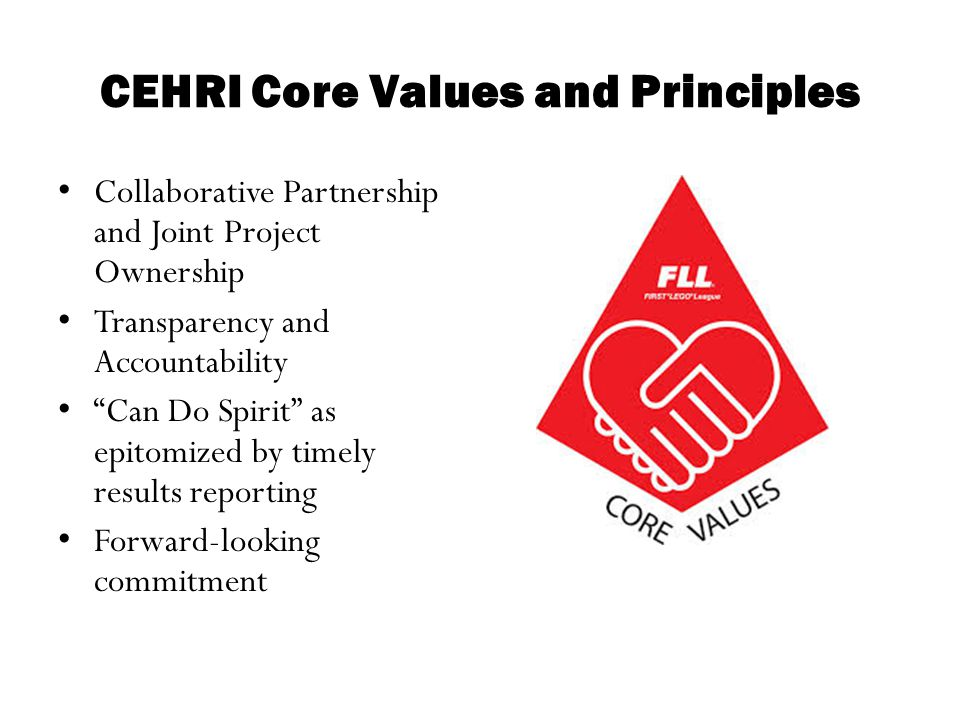 CEHRI Core Values and Principles