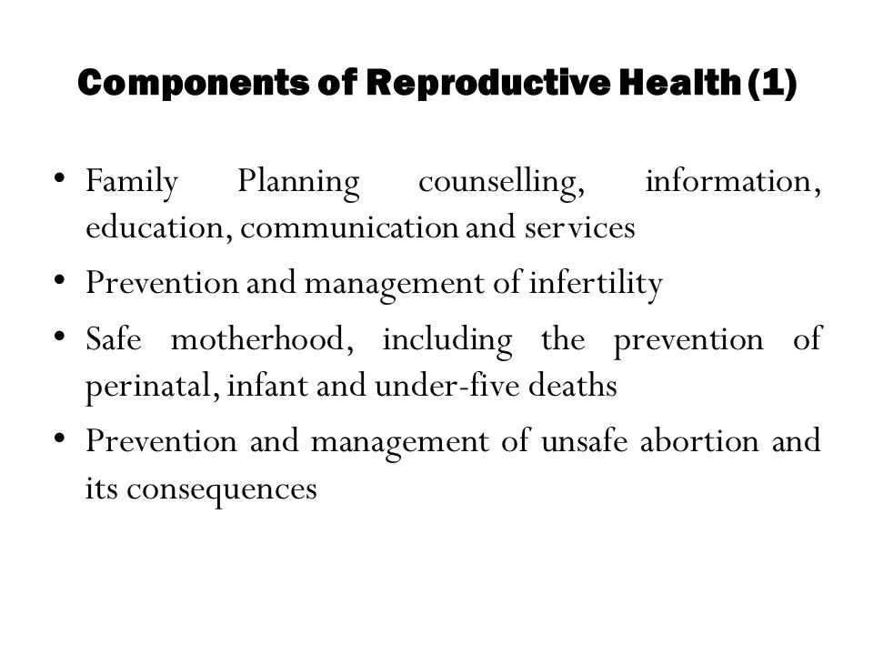 Components of Reproductive Health (1)