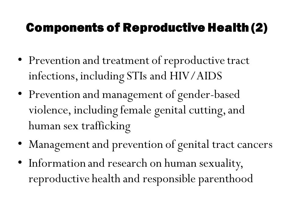Components of Reproductive Health (2)