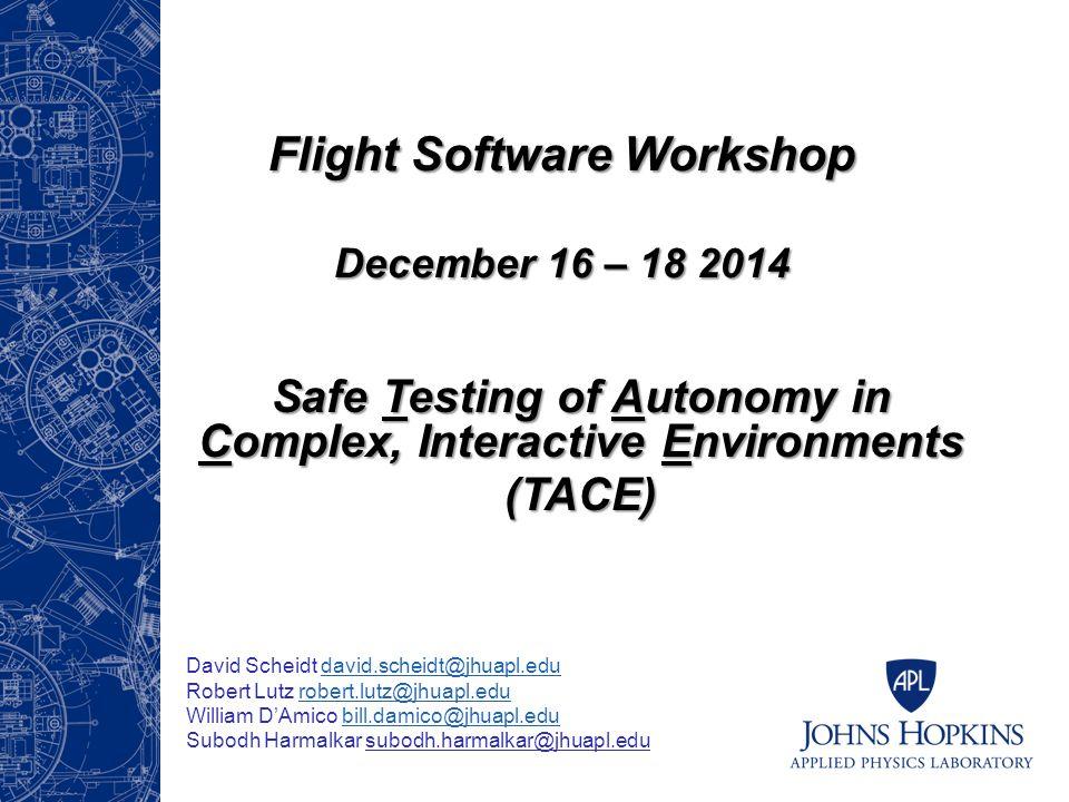 Flight Software Workshop